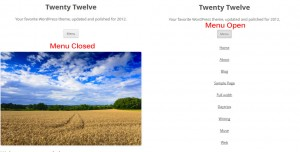 Improved Responsive Menu Twenty Twelve
